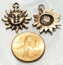 SUN FINE PEWTER PENDANT CHARM - 3x22x18mm image 3
