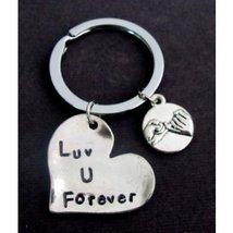 Love you forever keychain With Pinky Promise, Couples keychain, Couple J... - $13.00