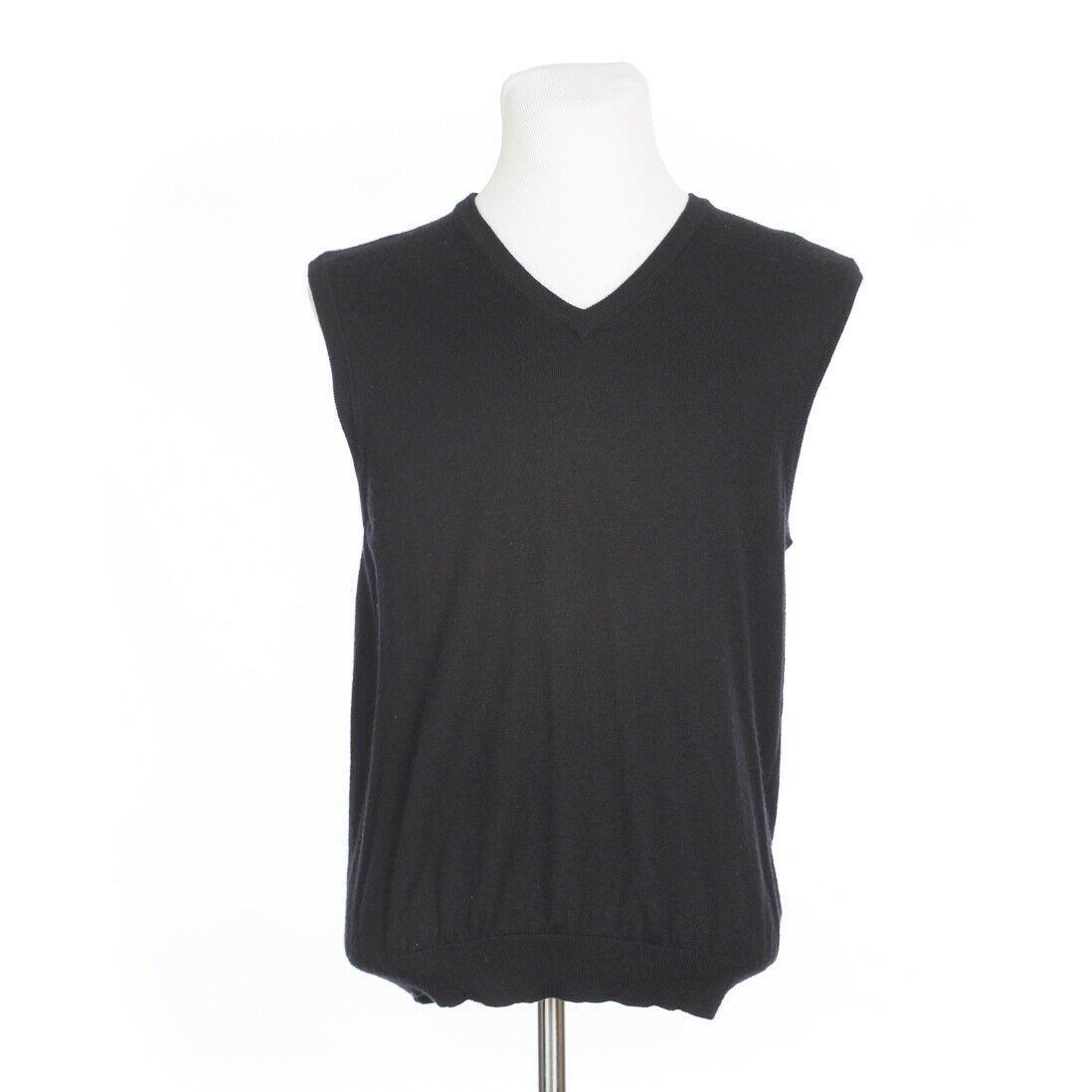 Brooks Brothers Extra Fine Merino Wool Solid Black Sweater Vest Mens Medium image 4