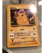 1995 Pikachu GnawPocket Monster Card Near Mint In Display Case Nintendo - $14.99