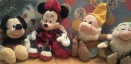 Disney Store Lot Of 4 Bolsa con Relleno Muñeca Peluche Juguetes - $15.03