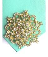 Silver Or Gold Tone Wedding Bridal Rhinestone Crystal Flower Brooch Pin ... - $9.99