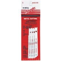 """Milwaukee 48-42-2120 2-3/4"""" x 18 TPI Metal Cutting Jigsaw Blades 5pk - $6.93"""