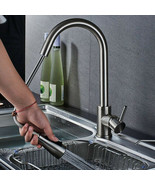 Kitchen Sink Faucet Chrome Pull Down Spray Swivel Spout Mixer Tap Single... - $46.31
