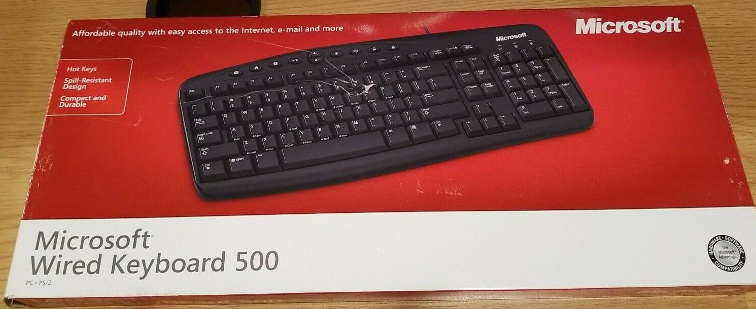 Microsoft Wired keyboard 500 - $15.00