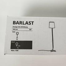 "Ikea Barlast Floor Lamp Black/White 150cm, 59"" Metal Body New - $29.09"
