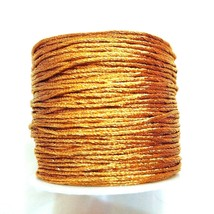 Golden Zari Cord Lace Thread Yarn Crochet Embroidery Jewelry DIY 70 Yard... - $6.24