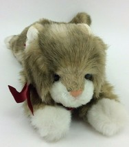 "Ty Patches Cat Classic Plush 1990 2nd Gen VINTAGE Brown Grey Off White 14"" - $29.02"