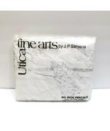 Vintage Percale Full Fitted Sheet J P Stevens Utica Botanica White Tree ... - $24.94