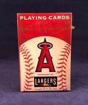 MLB LOS ANGELES ANGELS PLAYING CARDS ANAHEIM HALOS BASEBALL LANGERS ESPN... - $12.86