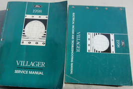 1998 Ford Mercury Villager Van Service Shop Repair Manual Set W Wiring OEM Books - $2.82