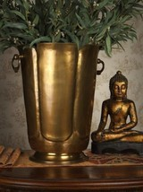 Antique Brass Planter with Ring Handles - $119.99