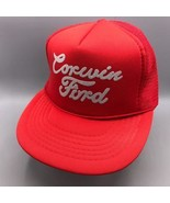 Vintage Corwin Ford Maille Casquette Snapback Trucker Chapeau - $34.40