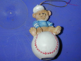 1996 Cherished Teddies Baseball Ornament - $13.10
