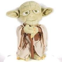 "Disney Parks Yoda Plush 9"" Star Wars Jedi Cane Green Ears Stuffed Animal... - $19.69"