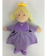 North American Bear Co Doll Purple Dress Princess Tiara Plush Blonde - $23.21