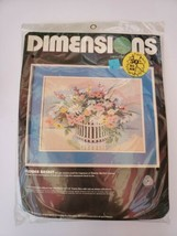 """Dimensions Needlepoint Kit #2327 """"Flower Basket""""  16x12 Counted Cross St... - $14.85"""