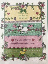 Bucilla Little Lamb Cross Stitch Birth Announcement Kit Dena's Closet 43... - $19.34