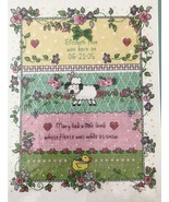 Bucilla Little Lamb Cross Stitch Birth Announcement Kit Dena's Closet 43... - $19.34