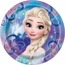 Disney Elsa Frozen Magic Round Lunch Plates 8 Count Birthday Party Suppl... - $3.85