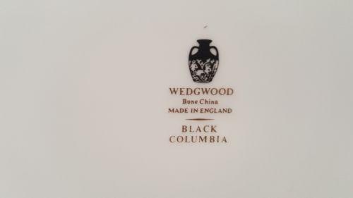 """Wedgwood China Columbia Black 6"""" Bread Plate"""