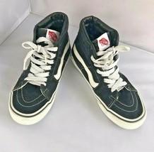 Vans Men Size 5 Ladies 6.5 Black Skateboard Shoes Lace Up Tennis Athleti... - $15.84