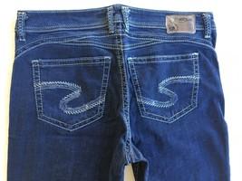 New SILVER Jeans Sale Dark Mid Rise Casey Boyfriend Skinny Stretch Jean 34 x 31 - $56.07