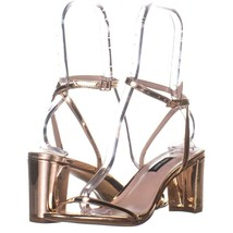 Nine West Provein Ankle Strap Block Heel Sandals 688, Pink, 8.5 US - $25.91
