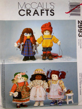 Doll Patterns McCalls Crafts 2993 UNCUT factory folded smoke and odor free CUTE! - $9.89