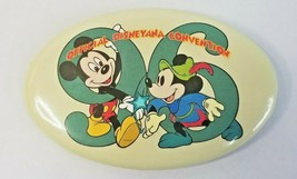 1996 Walt Disney World Official Disneyana Convention Oval Pinback Button - $5.30