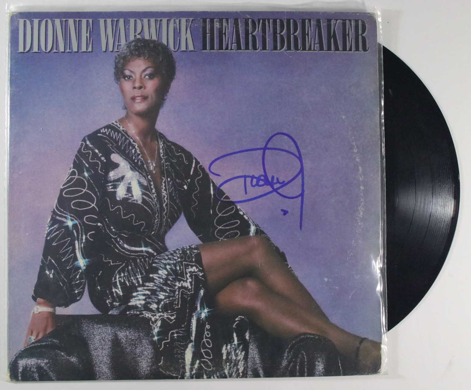 "Primary image for Dionne Warwick Signed Autographed ""Heartbreaker"" Record Album"