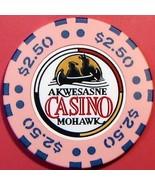 $2.50 Casino Chip, Akwesasne Mohawk, Hogansburg, NY. V33. - $5.50