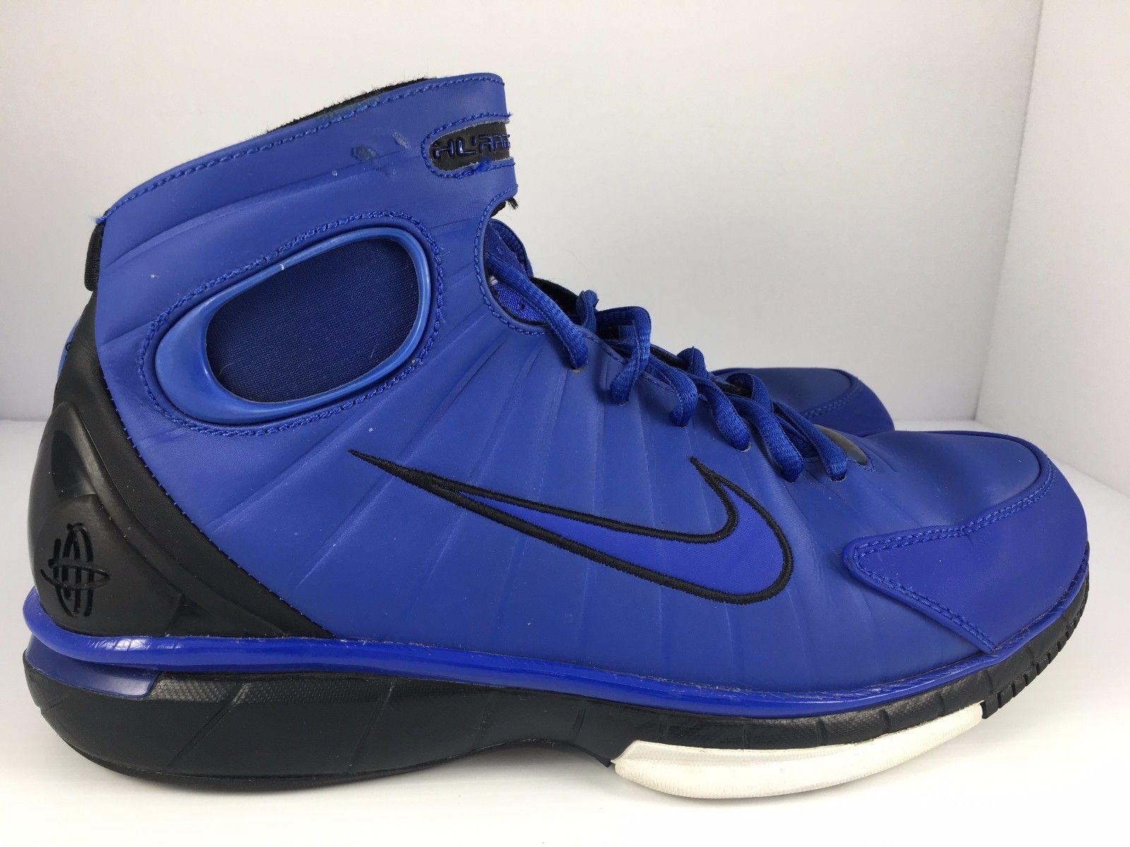Nike Air Zoom Huarache Men US 8 Duke Blue + Black 511425-441 Kobe Sneakers