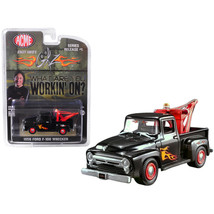 1956 Ford F-100 Wrecker Tow Truck Black with Flames (Stacey Davids GearZ... - $15.14