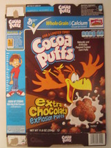 Empty GENERAL MILLS Cereal Box 2010 Cocoa Puffs 11.8 oz EXPLOSION PUFFS ... - $9.60