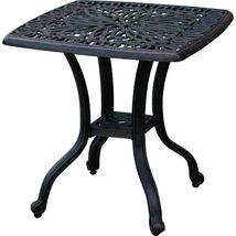 Outdoor Chaise Lounge Patio Furniture  Elisabeth Cast Alumnum Bronze image 5
