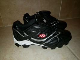 Rawlings Tuff Tek Black/White Mens Baseball Cleats size 8.5 - $18.99