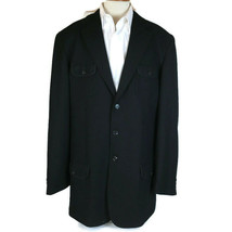 Sean John Men Sports Coat Size XXL Black 4 Pocket 4 Button Embroidered  - $37.74