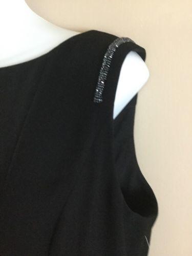 NWT Womens ANNE KLEIN  LITTLE BLACK SHEATH Beaded Sleeveless Cocktail DRESS 12 L