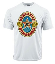 Newcastle Bombshell Dri Fit graphic Tshirt moisture wicking beer beach SPF tee image 2