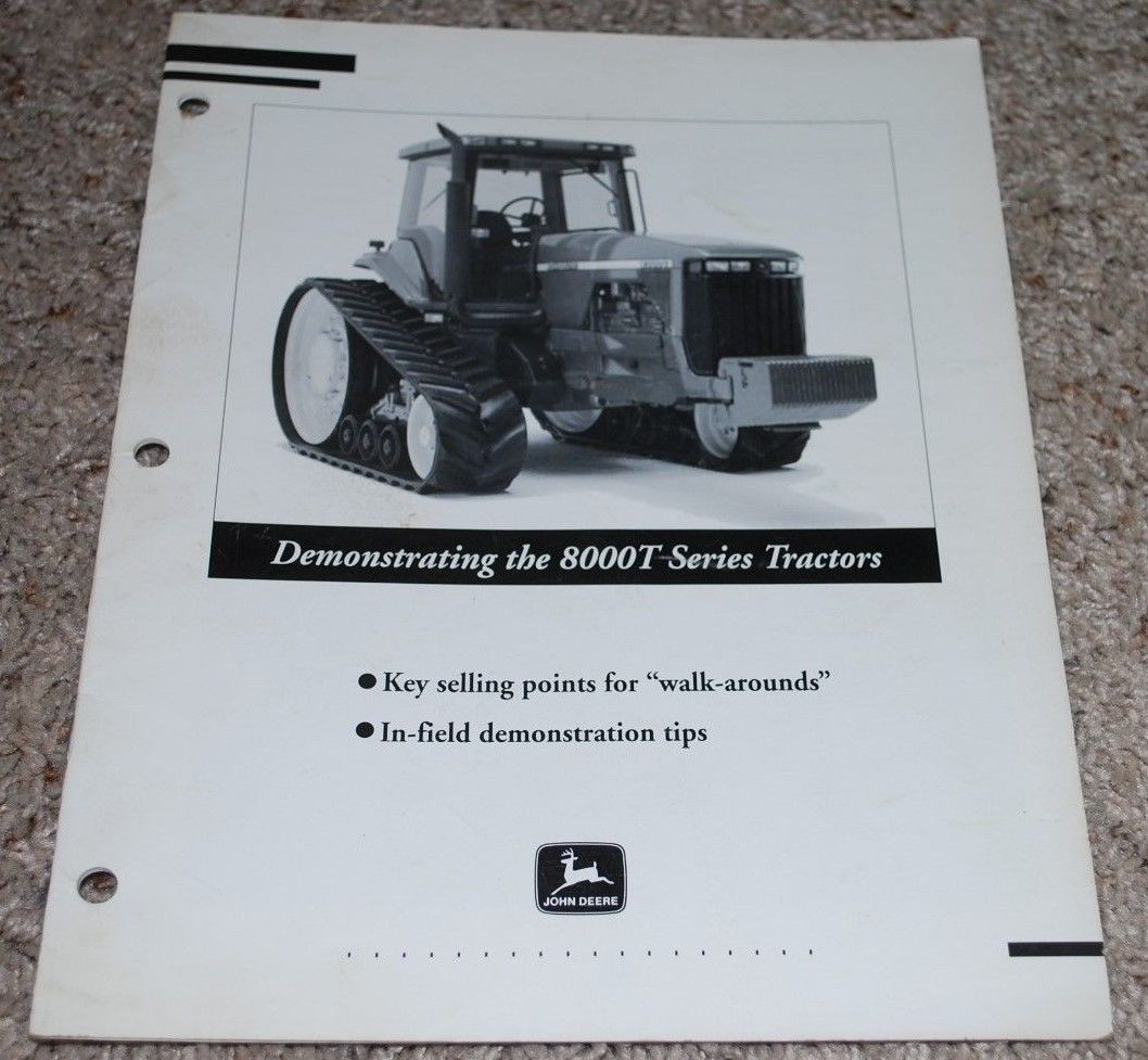 Primary image for John Deere 8000T Series Tractors In-field Demonstration Tips Manual Walk-Arounds
