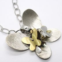 925 Silver Necklace, Oval Chain, Pendant Butterfly Large Panel Butterflies image 3