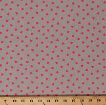 Cotton Linen Pink Hearts Romantic Valentine's Day Fabric Print BTY D507.30 - $11.95