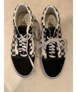 VANS OFF THE WALL BLACK/WHITE CHECKERBOARD SHOES MENS SIZE 10 - $20.00