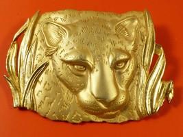 VTG Park Lane Large Gold Wild Cat Leopard Panther combo Pendant Brooch Pin - $27.72