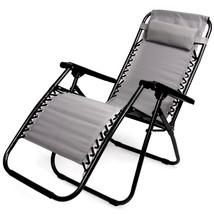 Zero Gravity Folding Lounge Chair, Gray - $113.42