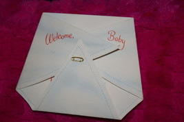 Vintage Hallmark Greeting Card Welcome Baby Shaped Like A Diaper Hall Brothers - $8.00