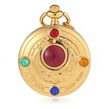 Unisex Quartz Pocket Watch Artificial Jewel Decoration Unique Dial Patte... - $7.00