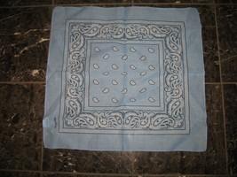 "Wholesale Lot 6 22""x22"" Paisley Light Blue Bandana - $14.88"