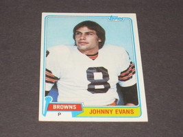 1981 TOPPS CLEVELAND BROWNS TRADING CARD...#129 JOHNNY EVANS - $4.50